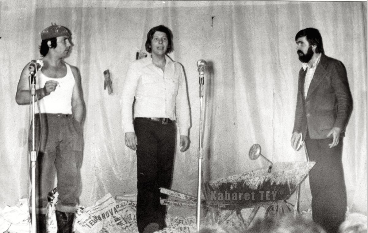 Aleksander Gołębiowski, Zenon Laskowik i Janusz Rewiński