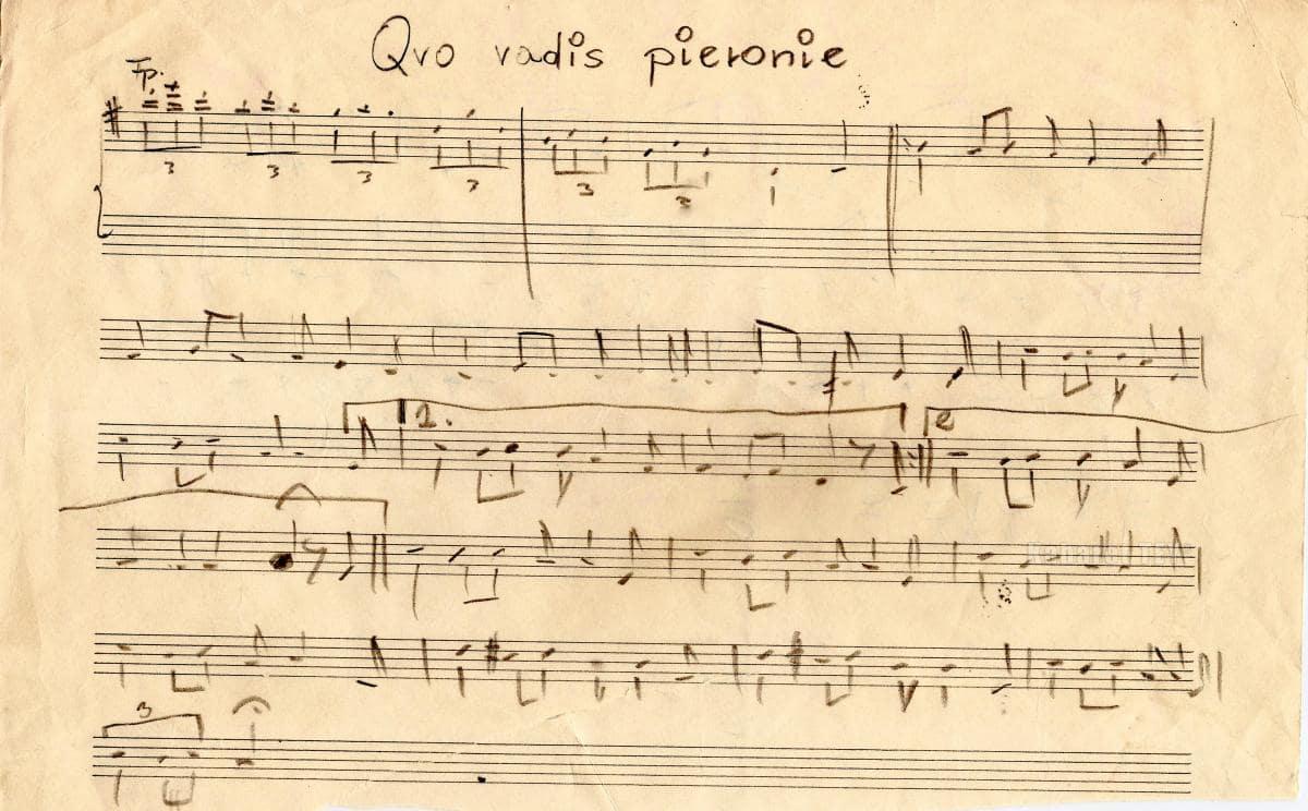 """Program """"Humor, skecz, piosenka, wesołe monologi i ktoś z Warszawy"""" - Quo Vadis Nuty 1"""