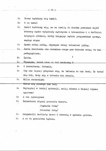 Program przedszkole scenariusz 17