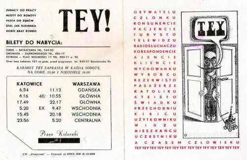 Tey program wizyta i kwita - Plakat zapraszający na Masztelarską