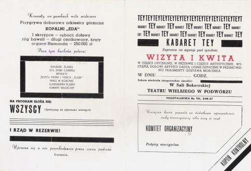 Tey program wizyta i kwita - Zaproszenie na występ