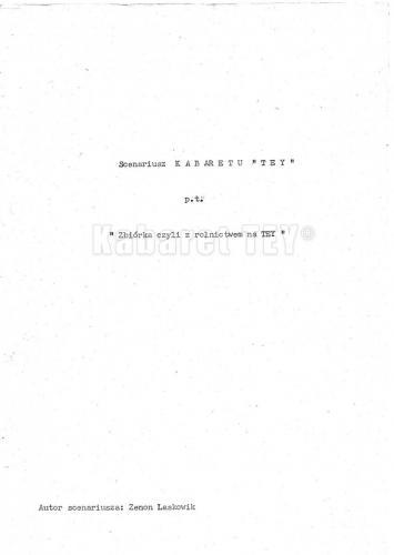 """Program """"Humor, skecz, piosenka, wesołe monologi i ktoś z Warszawy"""" - Scenariusz strona 1"""